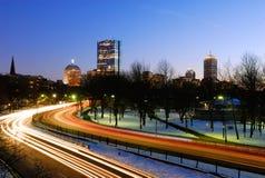 Boston bij nacht Royalty-vrije Stock Afbeelding