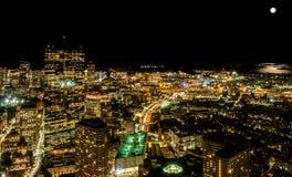 Boston bij Nacht Stock Afbeelding