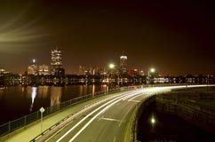 Boston bij Nacht Stock Afbeeldingen
