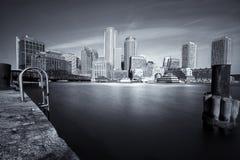 Boston in black and white. View of Boston from south boston Stock Photo