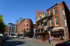 Boston Blackstone kvarter, Massachusetts, USA Arkivfoton