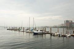 Boston: boats at central wharf Stock Photos