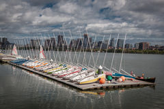Boston Boats for Rent Stock Photography