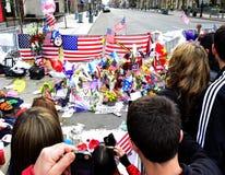 Boston Bombing People Memorial Royalty Free Stock Photos