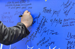 Boston Bombing Support Poster Royalty Free Stock Image