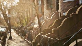 Boston bostads- hem Fotografering för Bildbyråer