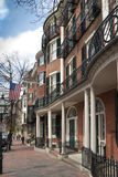 Boston brick victorian townhouse Stock Photography