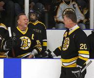 Boston Bruins Alumni Hockey Game Middleton Sweeney Royalty Free Stock Photos