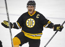 Boston Bruins Alumni Hockey Game Ray Bourque Royalty Free Stock Photography