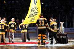 Boston Bruins Banner Night Stock Image
