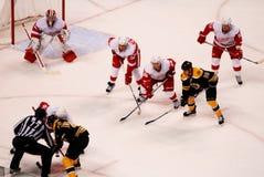 Boston Bruins de los Detroit Red Wings v. Imágenes de archivo libres de regalías