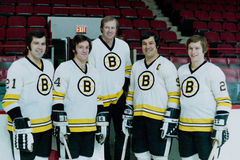 Boston Bruins do vintage Fotos de Stock Royalty Free