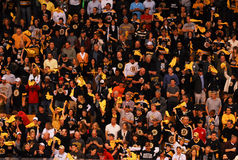 Boston Bruins fans Stock Photos