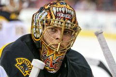 Boston Bruins goalie TUUKKA RASK Stock Image