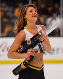 Boston Bruins Ice Girl. Royalty Free Stock Image