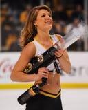Boston Bruins Ice Girl. Royalty Free Stock Image
