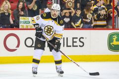 Boston Bruins left wing KASPARS DAUGAVINS Stock Image
