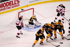 Boston Bruins make a wall. Stock Images