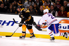 Boston Bruins -- Montreal Canadiens rivalry. Royalty Free Stock Photos