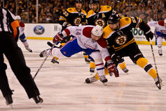 Boston Bruins, Montreal Canadiens rivalry NHL game Royalty Free Stock Photo