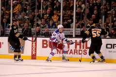 Boston Bruins -- NY Rangers Rivalry (NHL) Royalty Free Stock Photo