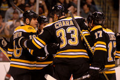 Boston Bruins score! (NHL Hockey) Stock Photo