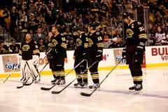 Boston Bruins starting line-up Stock Image