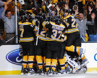 Boston Bruins victory. Stock Photography