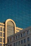 Boston buildings. Boston cityscape contrasts Royalty Free Stock Images