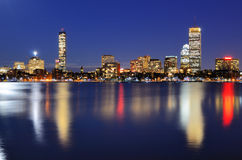 Boston Buildings. The cityscape of Back Bay Boston, Massachusetts, USA from across the Charles River Royalty Free Stock Photo
