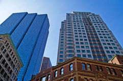 Boston Buildings. Skyscrapers and historical buildings in Boston, Massachusetts Royalty Free Stock Photo