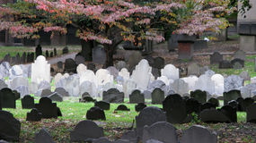 Boston burial site Royalty Free Stock Photo