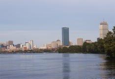 Boston céntrica del río de Charles Fotos de archivo libres de regalías
