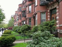 Boston - calle de Newbury imagen de archivo