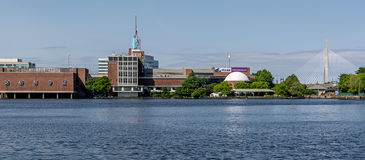 Boston, Cambridge city as seen from Charles River Royalty Free Stock Images