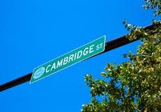Boston Cambridge street sign Massachusetts Stock Image