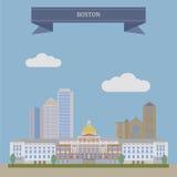 Boston, the capital of Massachusetts Stock Photography