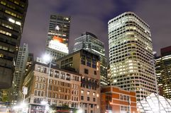 Boston, Massachusetts, USA - October 4, 2015: Skyline Boston at night royalty free stock images