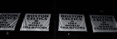 Boston Celtics Championship Banners Royalty Free Stock Photos
