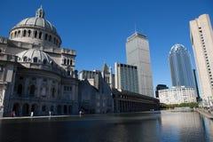 Boston center architecture Royalty Free Stock Image