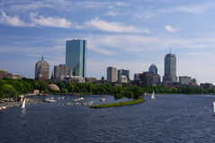 Boston by the charles Stock Image