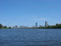 Boston, Charles River 01. A view of downtown Boston from the Charles River Royalty Free Stock Photography