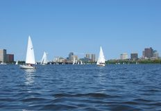 Boston, Charles River 07. Sailing on the Charles River Stock Photo