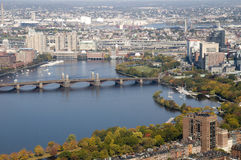 Boston with Charles River Royalty Free Stock Image