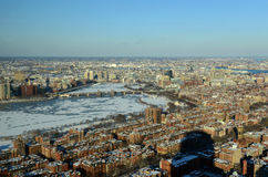 Boston Charles River et baie arrière, Boston Photos libres de droits