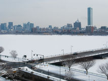 Boston Charles River winter Stock Photos