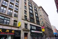 Boston chinatown building. Boston china town building and street Stock Images