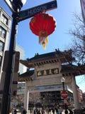 Boston China town Entrance Stock Photos