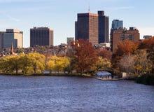Boston Citiscape van de brug van Massachusetts Royalty-vrije Stock Fotografie