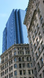 Boston city architecture. Contrasting old and modern architecture in Boston city, Massachusetts, U.S.A Stock Images